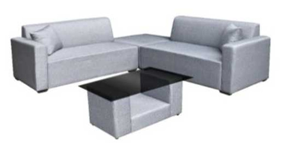 AMYRA 2PCS 2 SEATER W/ CENTER TABLE & STOOL