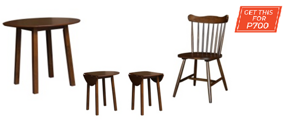 BUY MHATT ROUND TABLE GET MYRA DINING CHAIR FOR P700.00