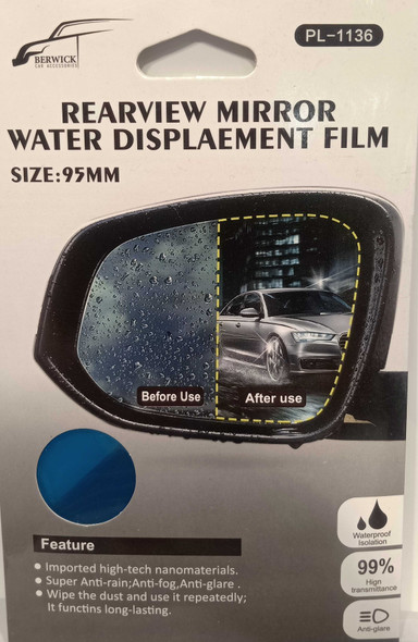 BERWICK C1136-2 REARVIEW WATER DISPLCEMNT FILM
