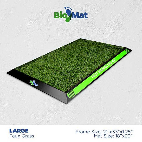 BIOMAT GREEN DISINFECTANT MAT LARGE 18X30INCH