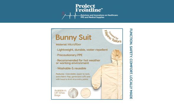 PPE BUNNY SUIT NON WOVEN PRECAUTIONARY