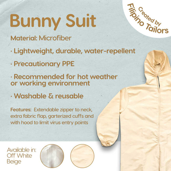PPE BUNNY SUIT MICROFIBER REUSABLE