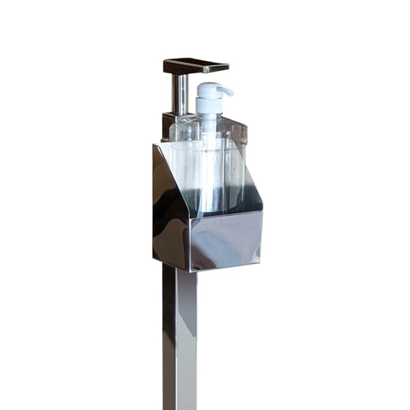 STAINLESS PEDALLED ALCOHOL DISPENSER