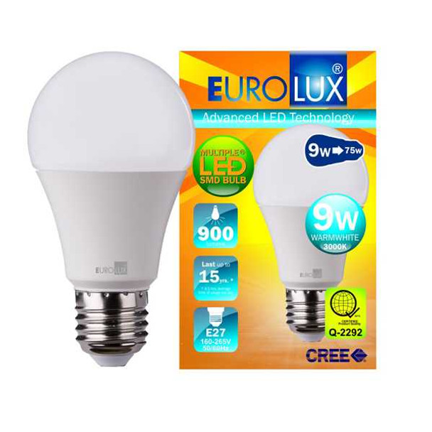 EUROLUX LED BULB SMD 9WATTS