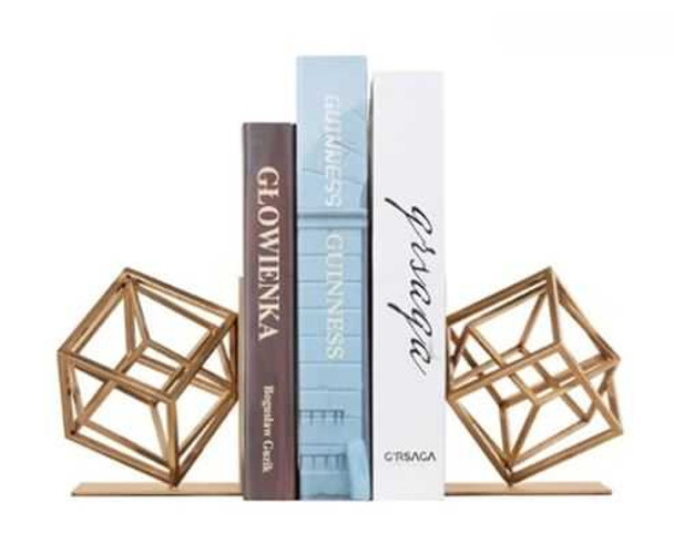 Cube Bookend  Antique Brass PF F-BJ415