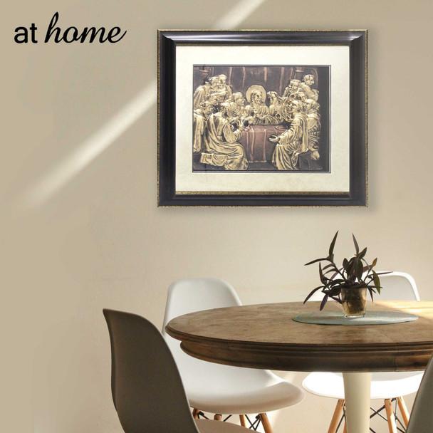 Athome Last Supper (Medium) Wall Frame dark brown