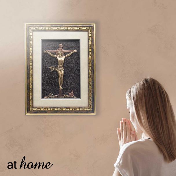 Athome Crucifix  Wall Frame Dark brown