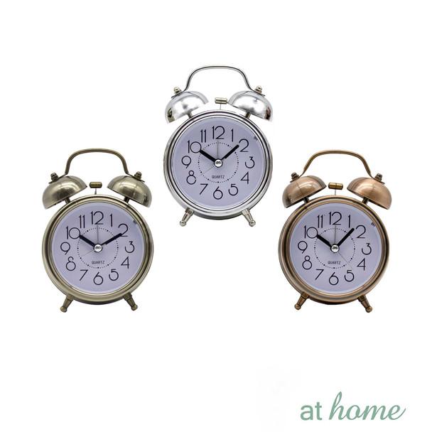 Athome Brandie Vintage Table Clock Silver