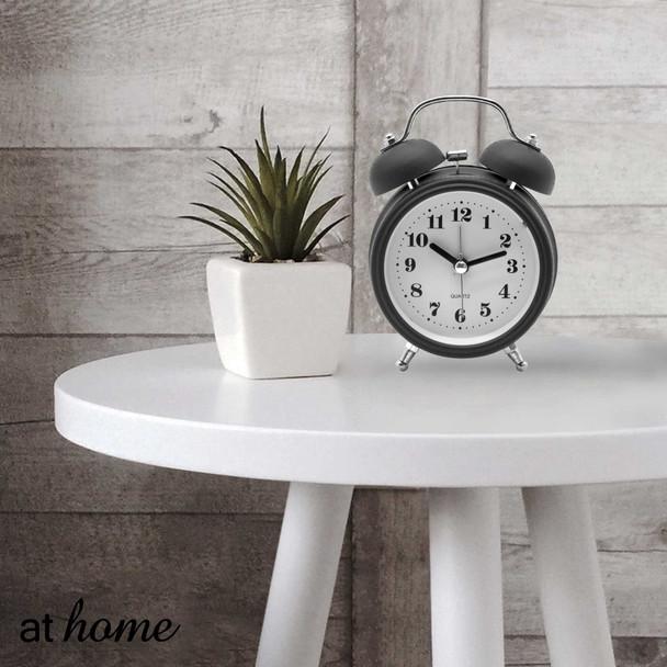 Athome Brianna Vintage Table Clock Black