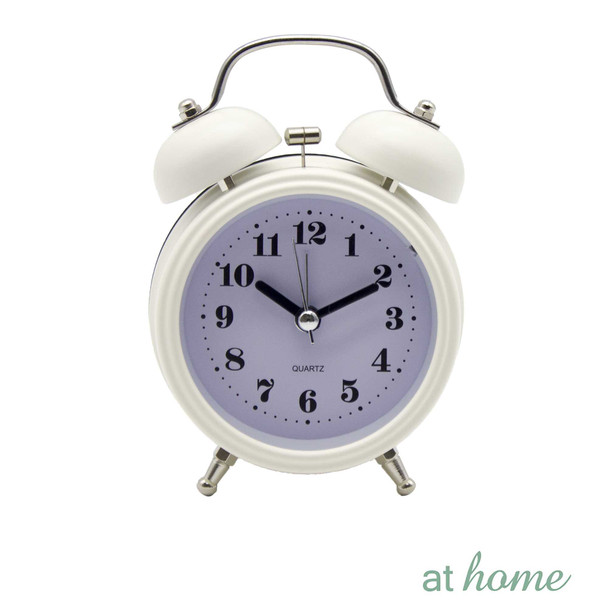 Athome Brianna Vintage Table Clock White