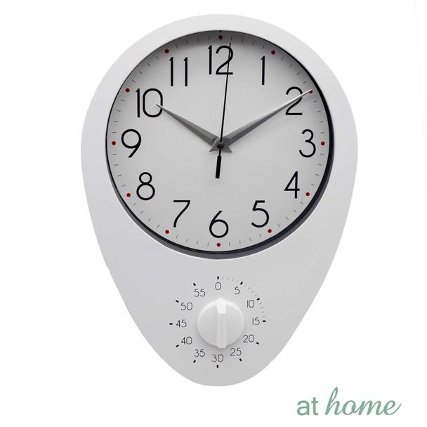 Athome Dew Wall Clock White