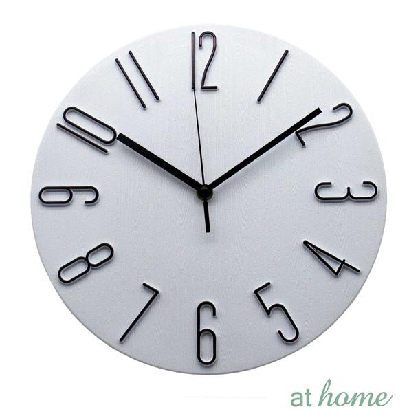 Athome Wallace Wall Clock Wht