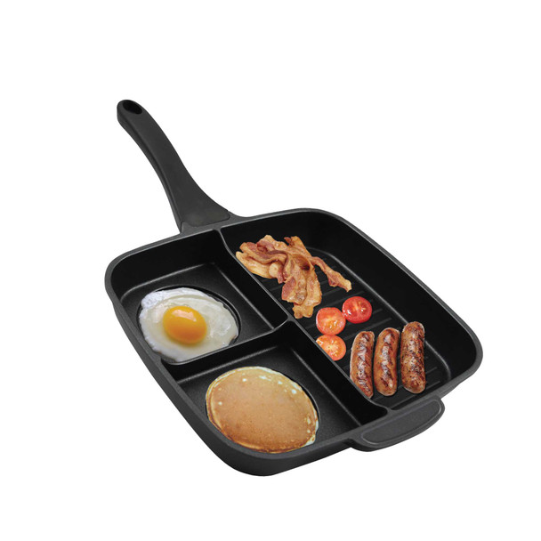 3 IN 1 SQUARE INDUCTION GRILL PAN