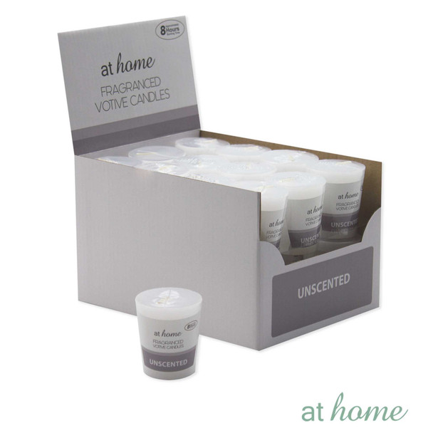 Athome Scented Votive Unscented White only
