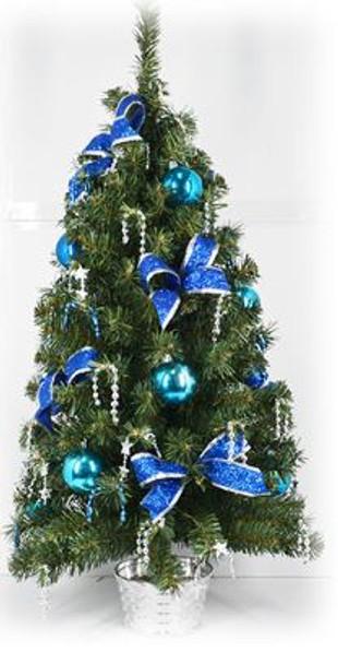 Decorative Christmas Tree Pot Blue (DX1536)