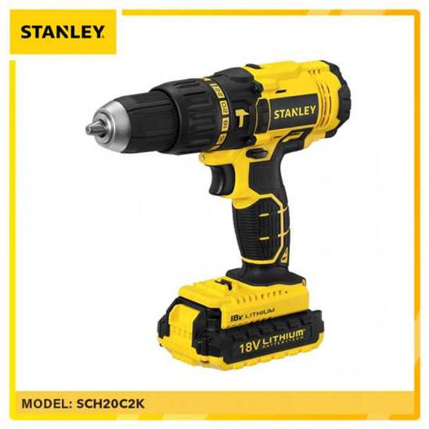 STANLEY STSCH20C2K CORDLESS HAMMER DRILL 13MM 18V