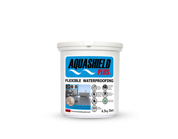AQUASHIELD PLUS WATERPROOFING COMPOUND 4.5KG SET