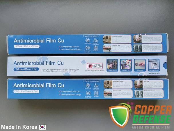 Copper Defense ANTI-MICROBIAL FILM 40cm x 5M roll Non-Adhesive