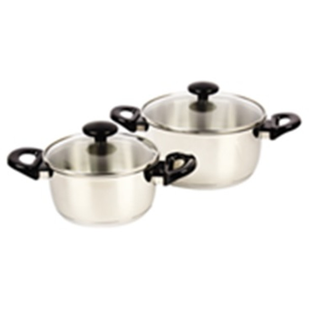 CHEF'S CLASSICS ESSENTIALS COOKWARE SET 4PCS STAINLESS STEEL