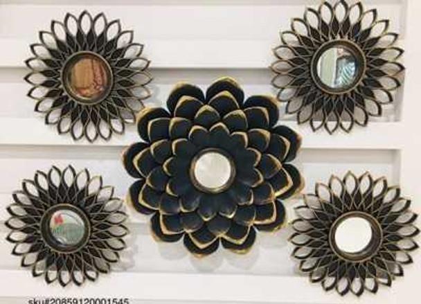 CFII1810-040 KM5108 Brushed Gold  Decorative Mirror Set of 5- 35cm&25cm