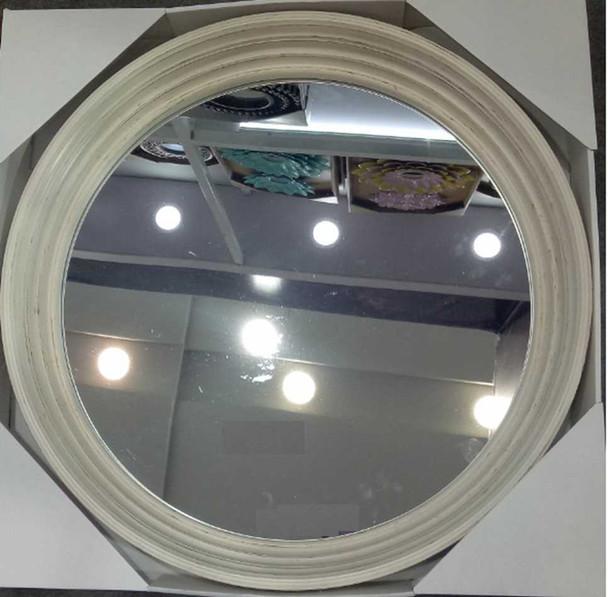 Decorative Mirror Round Cream Brushed Gold 60.5cm CFII1810-044 KM721