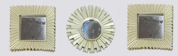 Decorative Mirror Set of 3 Brushed Silver- 25cm CFII1810-032 KM3051  -