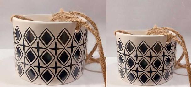 ELM JHF1804-049A Geometric Pattern Hanging Vase/Pot Small