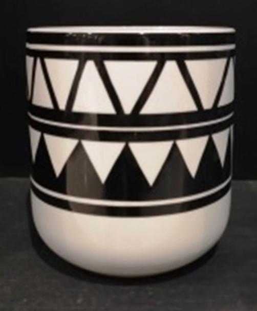 ELM JHF1804-038B 17D097W Ceramic Vase with Tribal Design