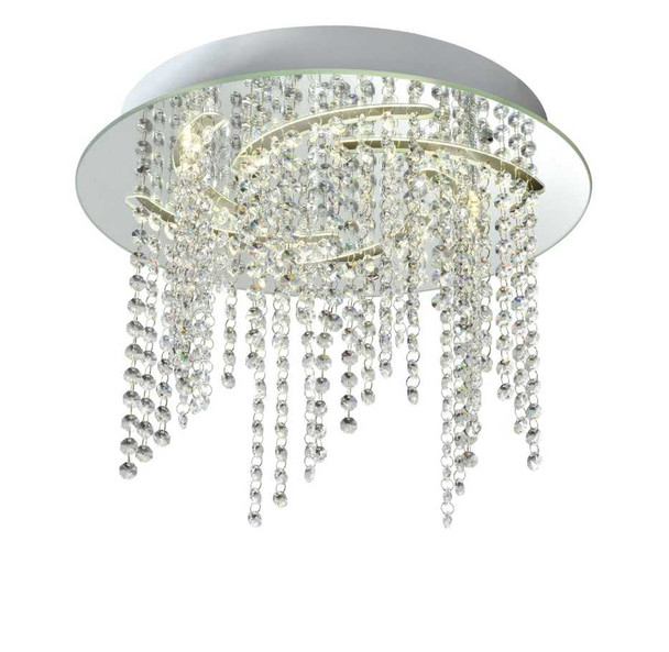 CAJSA CRYSTAL LOW CEILING LAMP ROUND