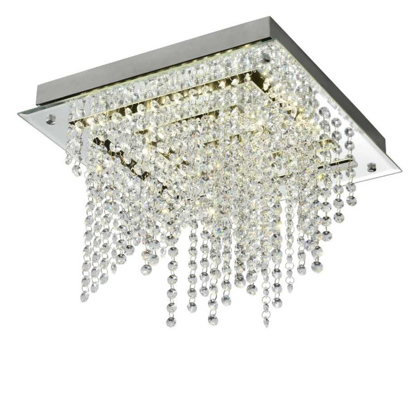 CHRISTER CRYSTAL LOW CEILING LAMP SQUARE