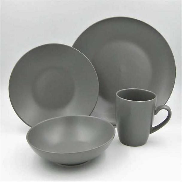 16pc Dinner Set Stoneware – Mono Slate