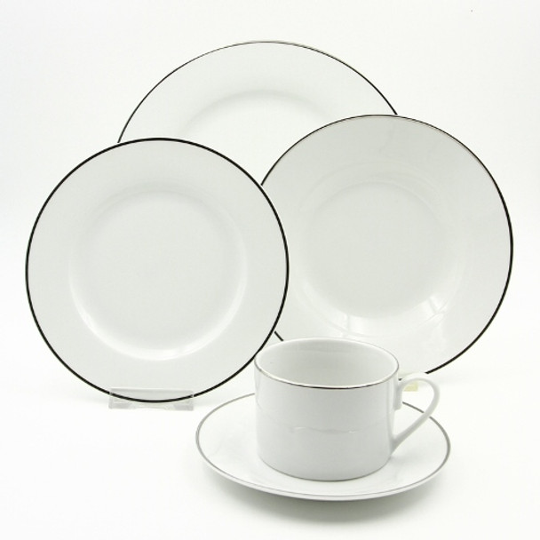 20pc Dinner Set Porcelain – Gleam Platinum