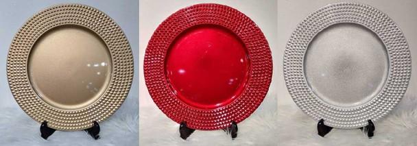 Elegant Design Charger Plate Silver 33x33x2cm