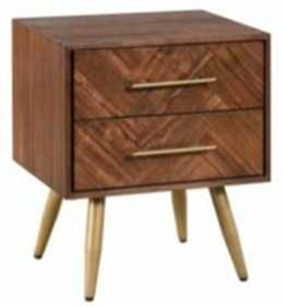 ADEN I 2 DRAWER BEDSIDE TABLE