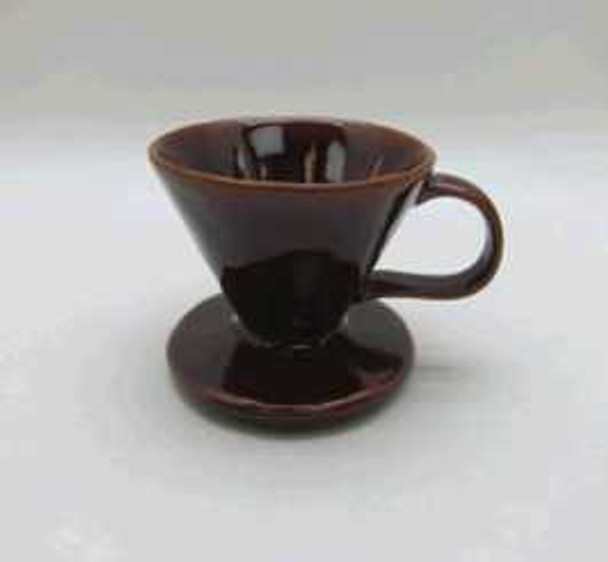 COFFEE LEAK STONEWARE SHINY BROWN REACTIVE GLAZE