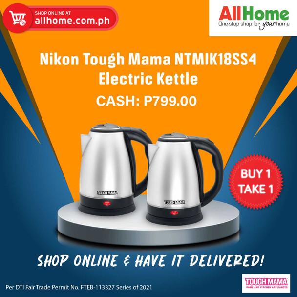 BUY 1 TAKE 1 Nikon Tough Mama NTMJK18SS4 Electric Kettle