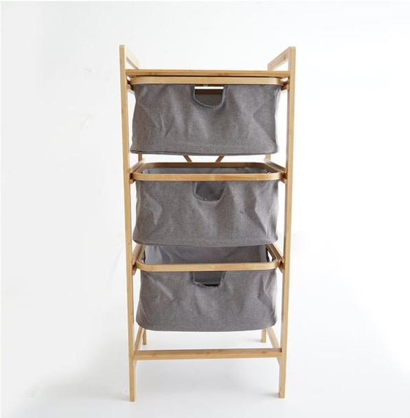 3 Layer Multipurpose Bamboo Side Storage Stand
