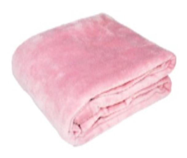 1.2mx1.5m Blush Pink Coral Fleece Blanket
