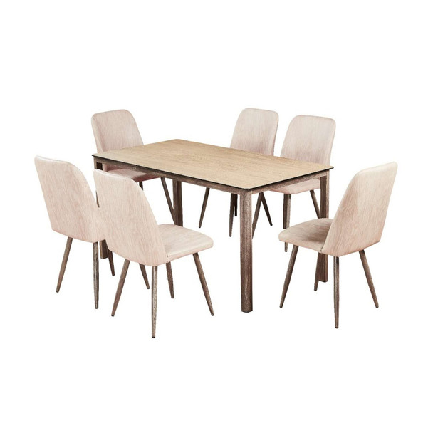 AVA 1Table 6Chair Dining Set