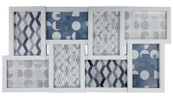 8-Opening Collage Photoframe White