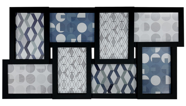 8-Opening Collage Photoframe Black