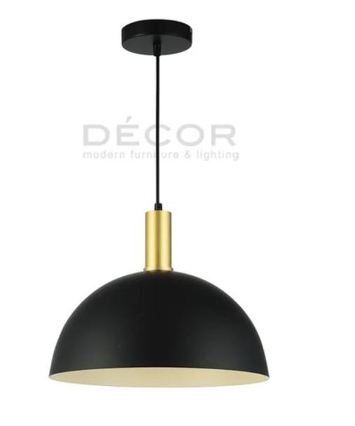DECOR DOME DROPLIGHT BLACK 36X18CM
