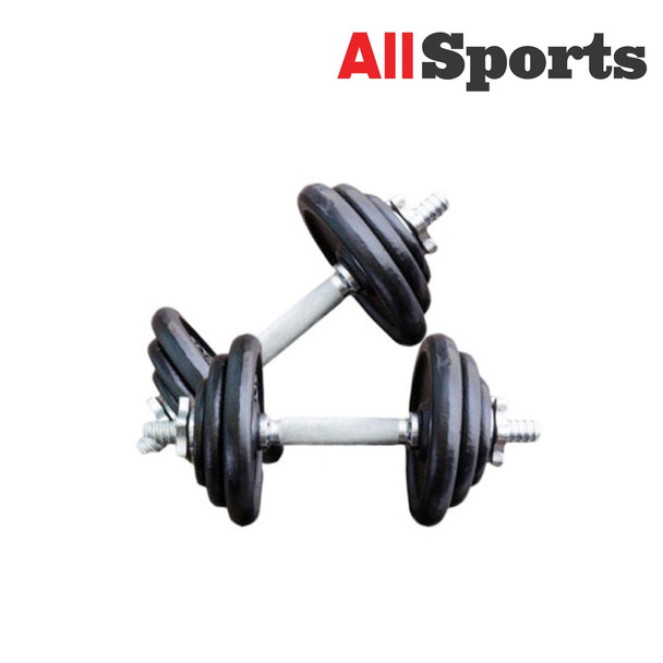ALLSPORTS-MUSCLE POWER DUMBELL SET 20 KG CAST IRON