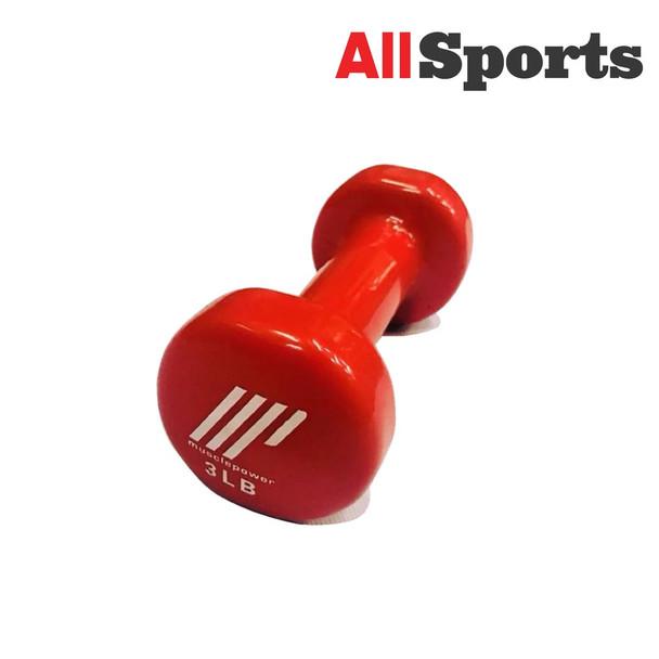 ALLSPORTS-MUSCLE POWER DUMBELL VINYL 3LBS