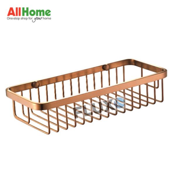 AHBA19 Bathroom Basket Rectangle Rose Gold SS304