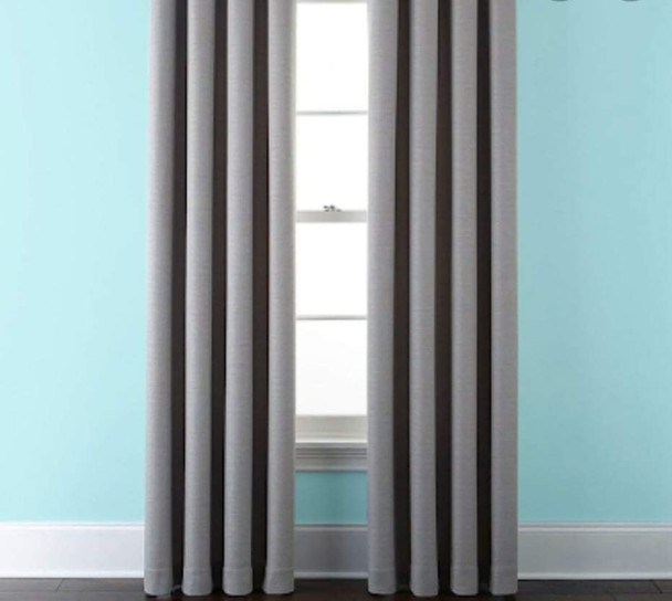 "Style And Collection 55""x96"" Ash Basic Black Out Curtain"