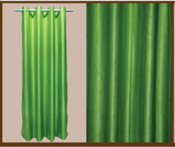 "Style And Collection 55""x84"" Forest Green Semi Black Out Curtain"