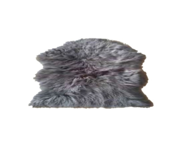 "60""x90"" Dark Grey Faux Fur Couture Rug"