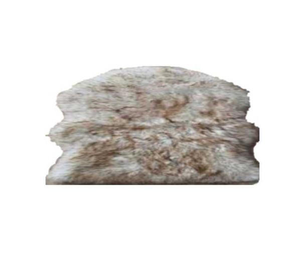 "60""x90"" Beige Faux Fur Couture Rug"