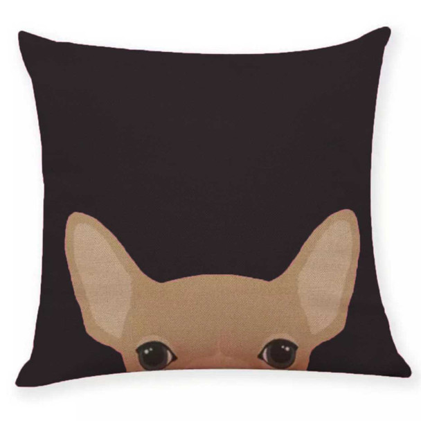 """18""""x18"""" Chihuahua Canvass Throw Pillow Case"""